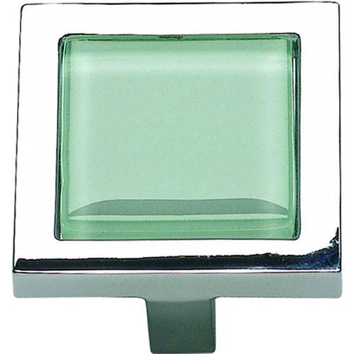 Atlas Homewares AT-230-GR-CH  Spa Polished Chrome Square Knob - Knob Depot
