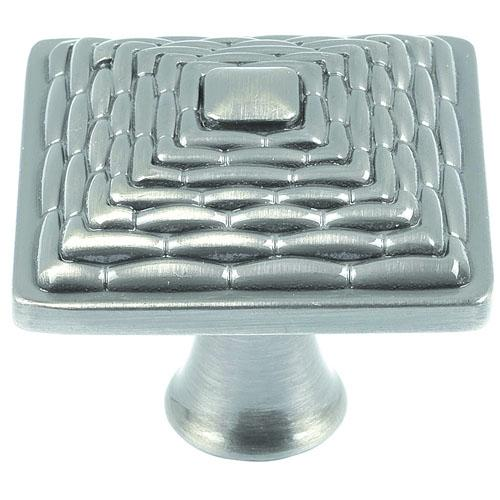 Atlas Homewares AT-237-BRN  Mandalay Brushed Nickel Square Knob - Knob Depot