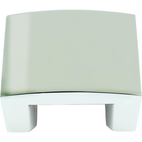 Atlas Homewares AT-254-PN  Centinel Polished Nickel Square Knob - Knob Depot