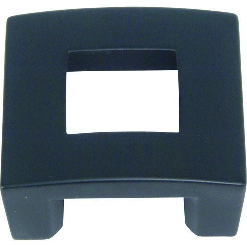 Atlas Homewares AT-255-BL  Centinel Black Square Knob - Knob Depot