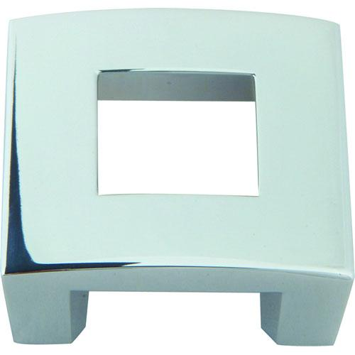 Atlas Homewares AT-255-CH  Centinel Polished Chrome Square Knob - KnobDepot.com