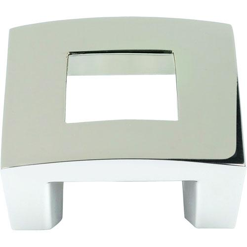 Atlas Homewares AT-255-PN  Centinel Polished Nickel Square Knob - Knob Depot