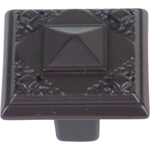 Atlas Homewares AT-257-O  American Arts & Crafts Aged Bronze Square Knob - Knob Depot