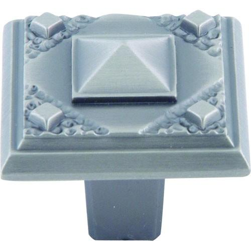 Atlas Homewares AT-257-P  American Arts & Crafts Pewter Square Knob - Knob Depot