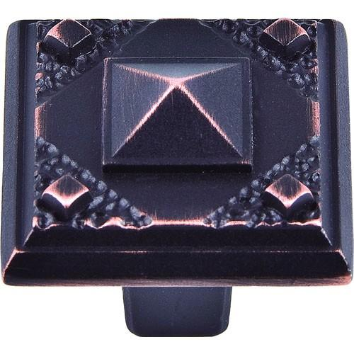 Atlas Homewares AT-257-VB  American Arts & Crafts Venetian Bronze Square Knob - Knob Depot