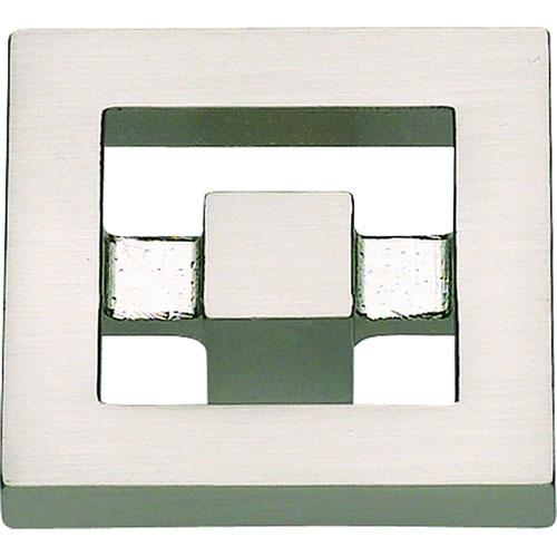Atlas Homewares AT-260-BRN  Nobu Brushed Nickel Square Knob - KnobDepot.com