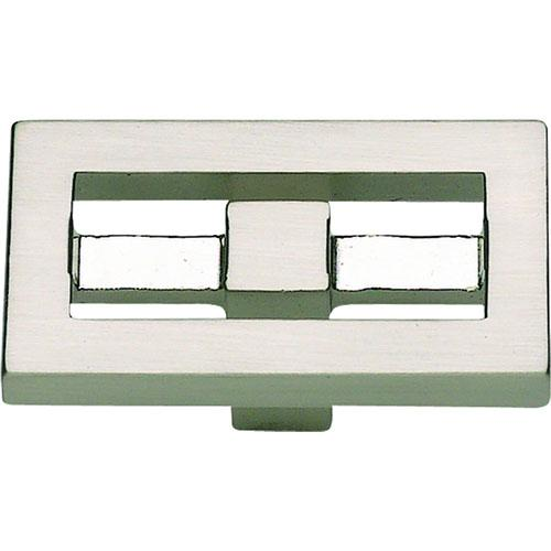Atlas Homewares AT-261-BRN  Nobu Brushed Nickel Rectangular Knob - KnobDepot.com