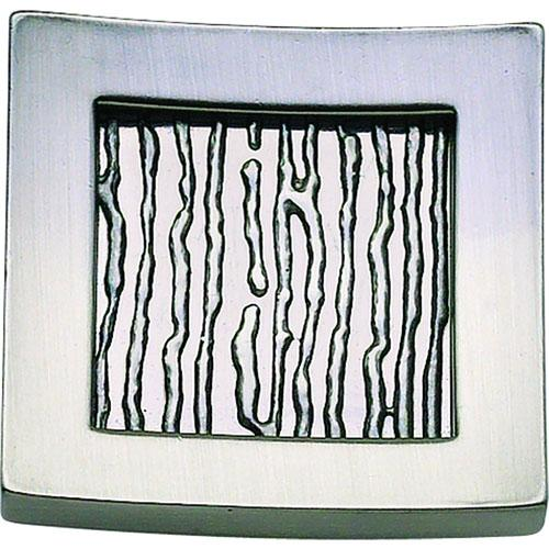 Atlas Homewares AT-270-BRN  Primitive Brushed Nickel Square Knob - KnobDepot.com