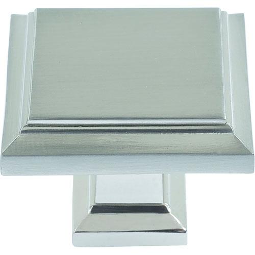 Atlas Homewares AT-289-BRN  Sutton Place Brushed Nickel Square Knob - KnobDepot.com