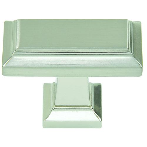 Atlas Homewares AT-290-BRN  Sutton Place Brushed Nickel Rectangular Knob - KnobDepot.com