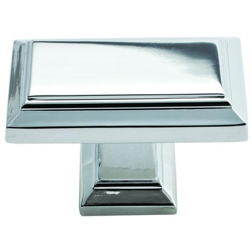 Atlas Homewares AT-290-CH  Sutton Place Polished Chrome Rectangular Knob - KnobDepot.com