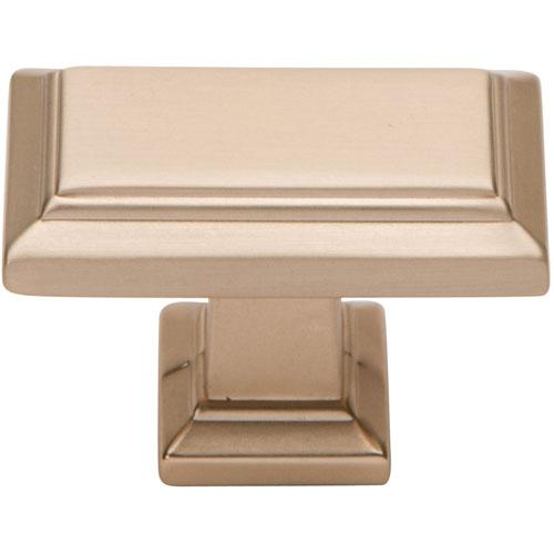 Atlas Homewares AT-290-CM  Sutton Place Champagne Rectangular Knob - Knob Depot