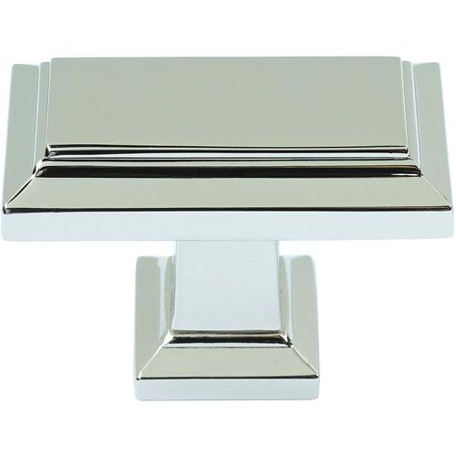 Atlas Homewares AT-290-PN  Sutton Place Polished Nickel Rectangular Knob - Knob Depot