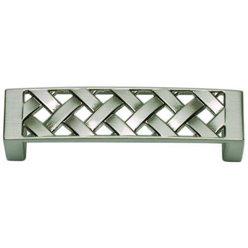 Atlas Homewares AT-310-BRN  Lattice Brushed Nickel Standard Pull - KnobDepot.com