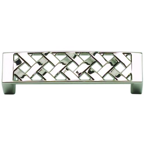 Atlas Homewares AT-310-PN  Lattice Polished Nickel Standard Pull - KnobDepot.com