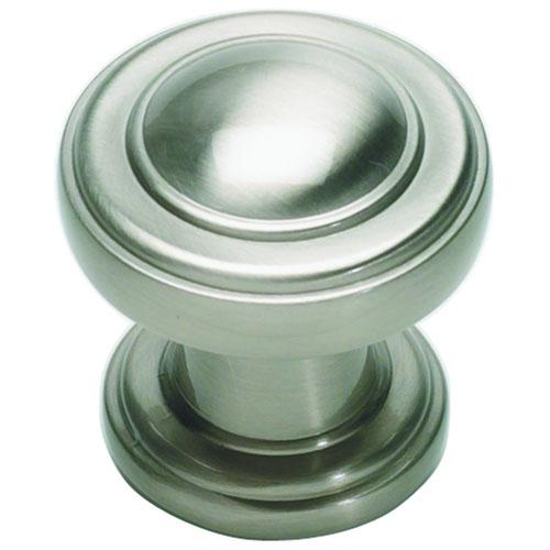 Atlas Homewares AT-313-BRN  Bronte Brushed Nickel Round Knob - KnobDepot.com
