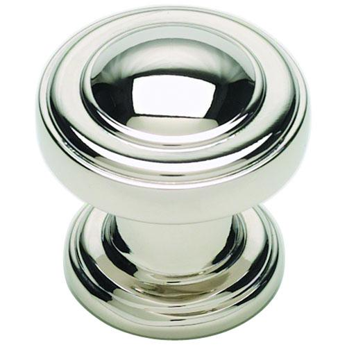 Atlas Homewares AT-313-PN  Bronte Polished Nickel Round Knob - KnobDepot.com