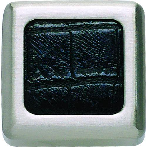 Atlas Homewares AT-3149-BN-CRC  Paradigm Brushed/Croc Square Knob - Knob Depot