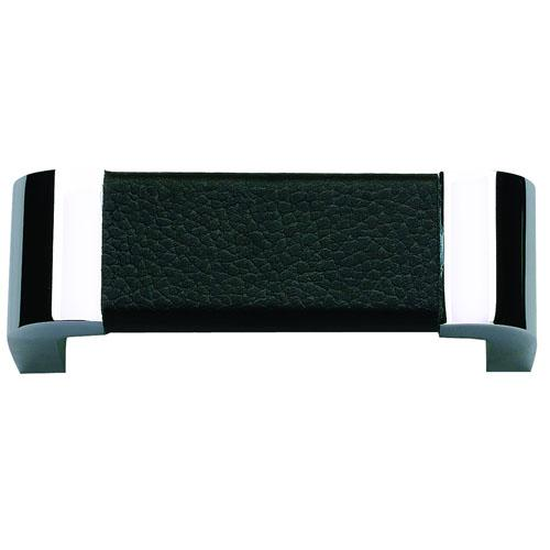 Atlas Homewares AT-3150-BL  Paradigm Chrome/Blk Leather Standard Pull - Knob Depot