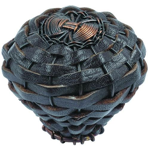 Atlas Homewares AT-3174-O  Hamptons Aged Bronze Round Knob - KnobDepot.com