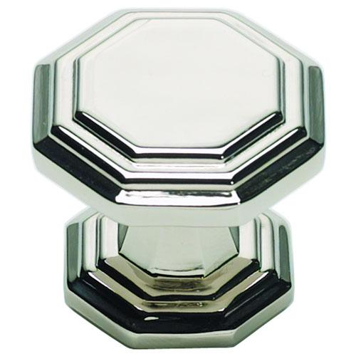 Atlas Homewares AT-319-PN  Dickinson Polished Nickel Octagon Knob - Knob Depot