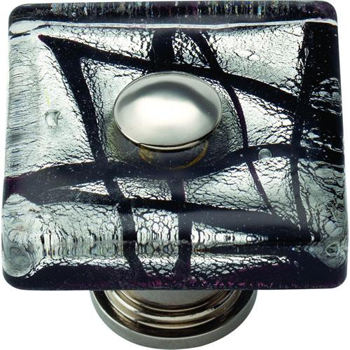 Atlas Homewares AT-3207-CH  Glass Polished Chrome Square Knob - KnobDepot.com