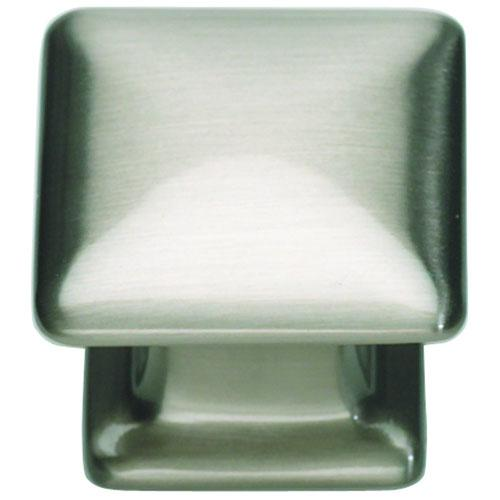 Atlas Homewares AT-322-BRN  Alcott Brushed Nickel Square Knob - Knob Depot