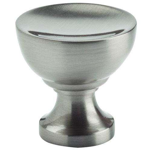 Atlas Homewares AT-328-BRN  Shelley Brushed Nickel Round Knob - Knob Depot