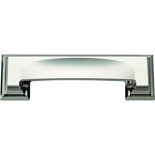 Atlas Homewares AT-339-CH  Sutton Place Polished Chrome Cup Pull - KnobDepot.com