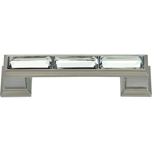 Atlas Homewares AT-341-BRN  Legacy Crystal Brushed Nickel Standard Pull - KnobDepot.com