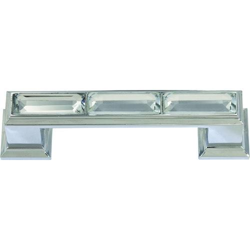 Atlas Homewares AT-341-CH  Legacy Crystal Polished Chrome Standard Pull - KnobDepot.com