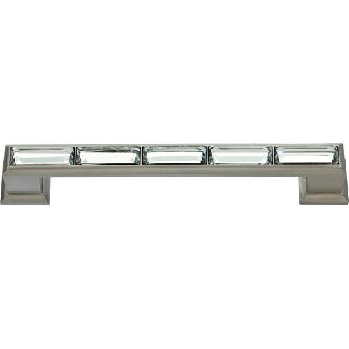 Atlas Homewares AT-342-BRN  Legacy Crystal Brushed Nickel Standard Pull - Knob Depot