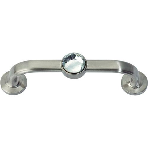 Atlas Homewares AT-344-BRN  Legacy Crystal Brushed Nickel Standard Pull - Knob Depot