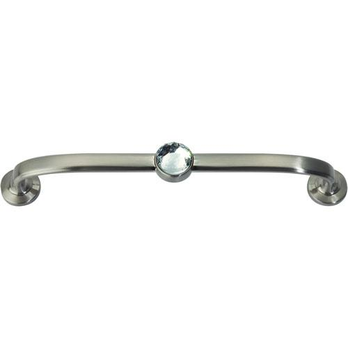 Atlas Homewares AT-345-BRN  Legacy Crystal Brushed Nickel Standard Pull - KnobDepot.com