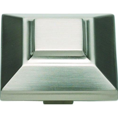 Atlas Homewares AT-4002-BRN  Trocadero Brushed Nickel Square Knob - Knob Depot