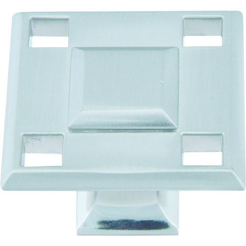 Atlas Homewares AT-4007-BRN  Modern Craftsman Brushed Nickel Square Knob - KnobDepot.com
