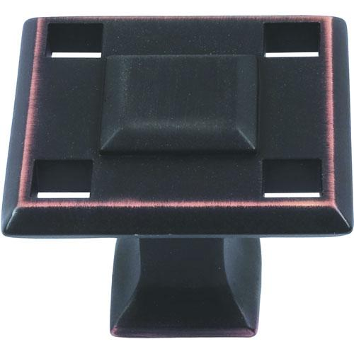 Atlas Homewares AT-4007-VB  Modern Craftsman Venetian Bronze Square Knob - Knob Depot