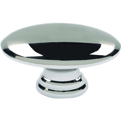 Atlas Homewares AT-A817-PN  Successi Polished Nickel Oval Knob - KnobDepot.com