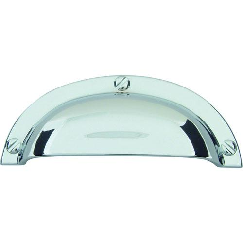 Atlas Homewares AT-A818-CH  Successi Polished Chrome Cup Pull - KnobDepot.com