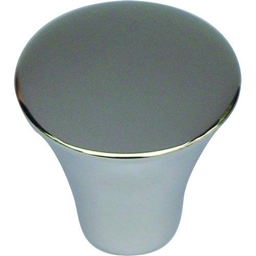 Atlas Homewares AT-A855-PS  Fluted Polished Stainless Steel Round Knob - KnobDepot.com