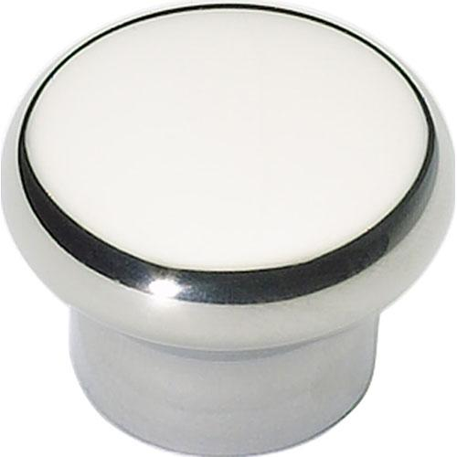 Atlas Homewares AT-A856-PS  Fluted Polished Stainless Steel Round Knob - Knob Depot