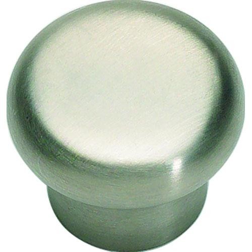 Atlas Homewares AT-A856-SS  Fluted Stainless Steel  Round Knob - Knob Depot