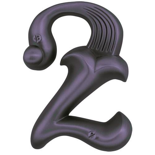 Atlas Homewares AT-AN2-O  Alhambra - Outside Hardware Aged Bronze House Number - Knob Depot