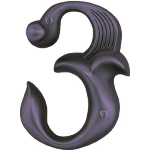 Atlas Homewares AT-AN3-O  Alhambra - Outside Hardware Aged Bronze House Number - KnobDepot.com