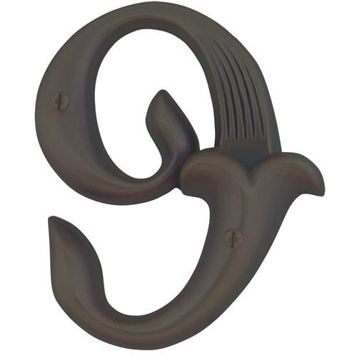 Atlas Homewares AT-AN9-O  Alhambra - Outside Hardware Aged Bronze House Number - Knob Depot