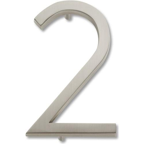 Atlas Homewares AT-AVN2-BRN  Avalon - Outside Hardware Brushed Nickel House Number - Knob Depot