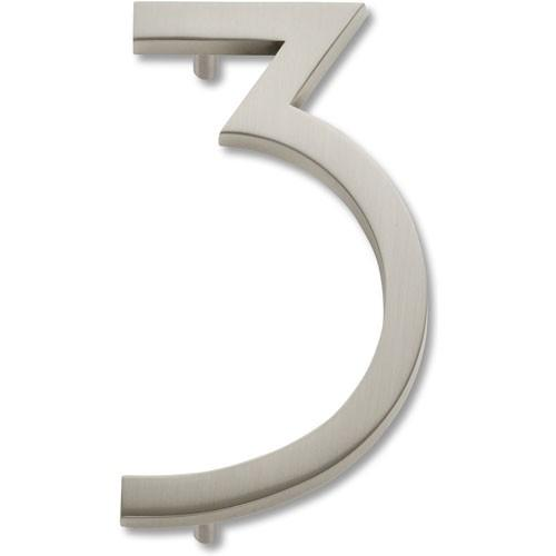 Atlas Homewares AT-AVN3-BRN  Avalon - Outside Hardware Brushed Nickel House Number - Knob Depot