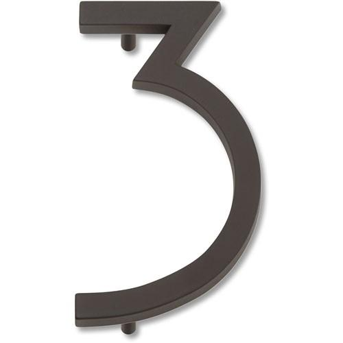 Atlas Homewares AT-AVN3-O  Avalon - Outside Hardware Aged Bronze House Number - Knob Depot