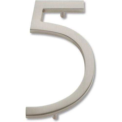 Atlas Homewares AT-AVN5-BRN  Avalon - Outside Hardware Brushed Nickel House Number - Knob Depot