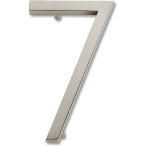 Atlas Homewares AT-AVN7-BRN  Avalon - Outside Hardware Brushed Nickel House Number - KnobDepot.com